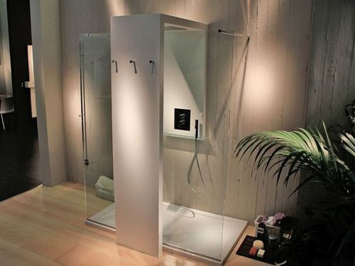 Shower + radiator = warmly doubly!