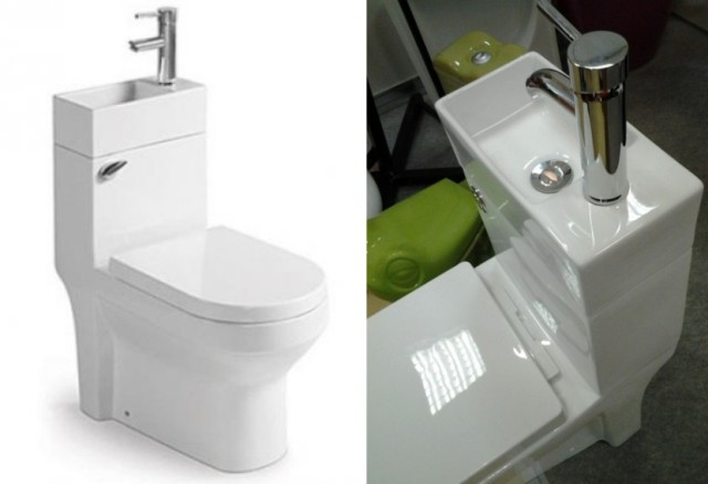 The combined bathroom equipment for small bathrooms