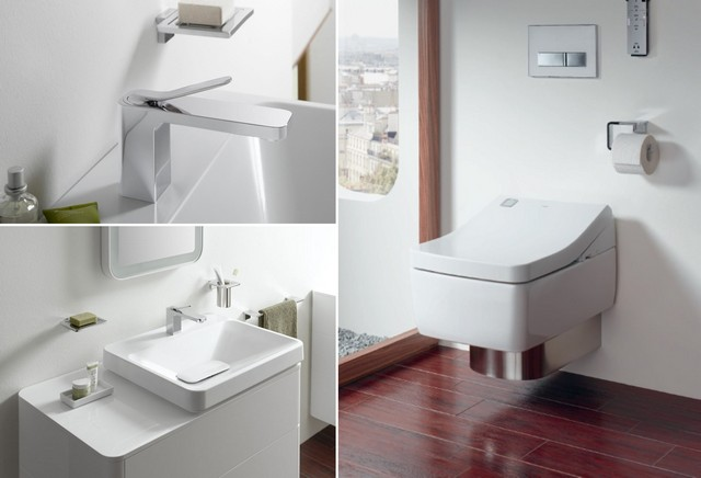 Comfort and brevity: bathroom equipment and furniture for a bathroom