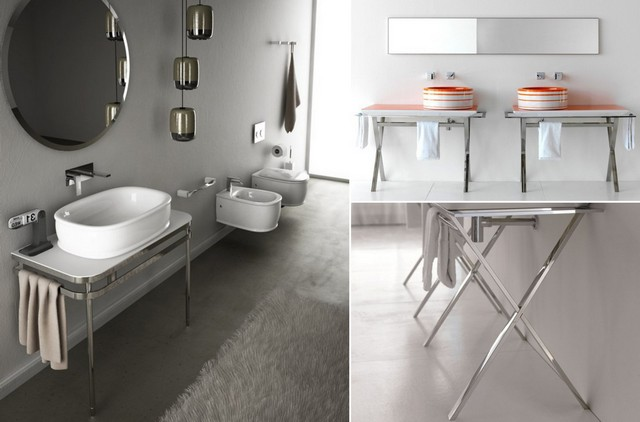 Table-tops for sinks – in a trend grace of